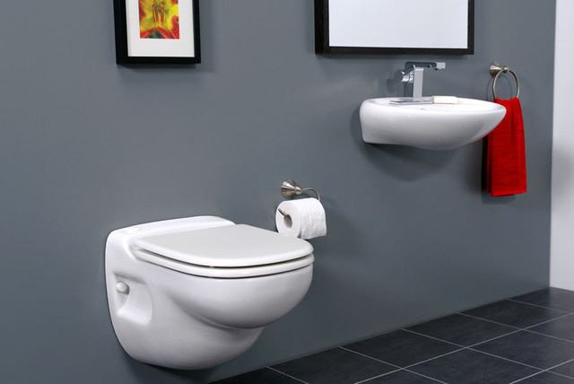 suspended toilet with installation