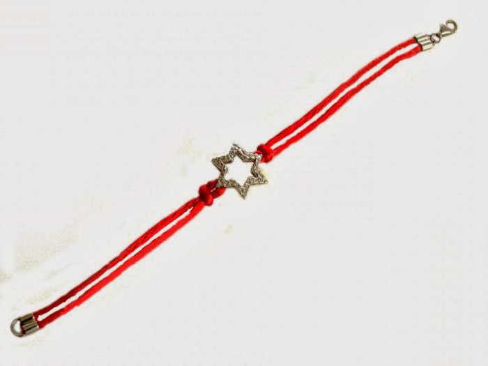 red thread from the evil eye from Jerusalem