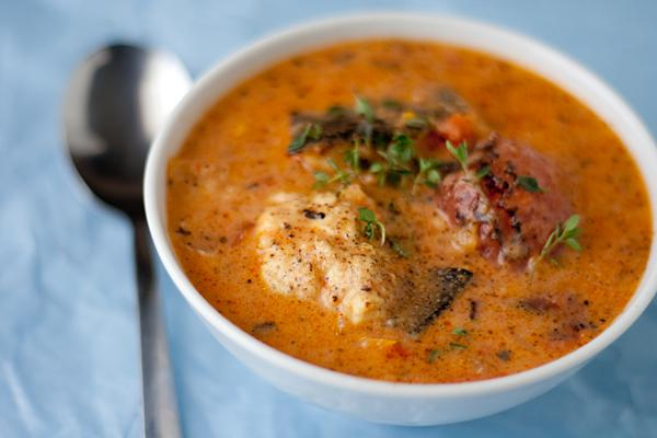 soup from sprat in tomato sauce