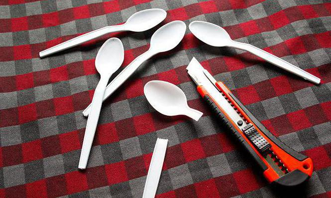 crafts from disposable spoons and forks